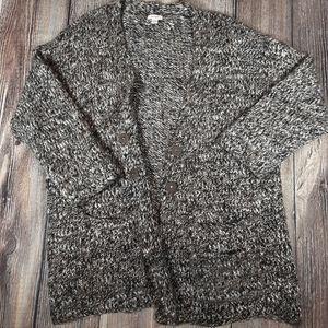 Pure Jill XL petite chunky button cardigan marled